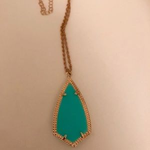 Jewelry - Kendra Scott Inspired Simple Teal Necklace